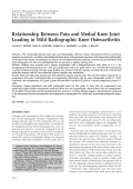 Relationship between pain and medial knee joint loading in mild radiographic knee osteoarthritis.