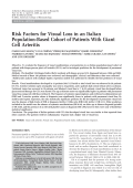 Risk factors for visual loss in an Italian population-based cohort of patients with giant cell arteritis.