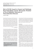 Role of RANK ligand in normal and pathologic bone remodeling and the therapeutic potential of novel inhibitory molecules in musculoskeletal diseases.