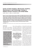 Survey of gross anatomy  microscopic anatomy  neuroscience  and embryology courses in medical school curricula in the United States.