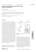 Synthesis and Biological Activity of Novel Acyclic Versions of NeplanocinA.