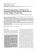 The relationship between self-report and performance-related measuresQuestioning the content validity of timed tests.