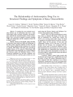 The relationship of antiresorptive drug use to structural findings and symptoms of knee osteoarthritis.