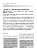 The risk of herpes zoster in patients with rheumatoid arthritis in the United States and the United Kingdom.