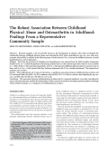 The robust association between childhood physical abuse and osteoarthritis in adulthoodFindings from a representative community sample.