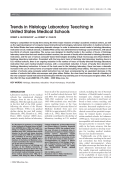 Trends in histology laboratory teaching in United States medical schools.