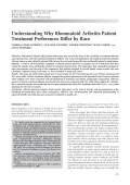 Understanding why rheumatoid arthritis patient treatment preferences differ by race.