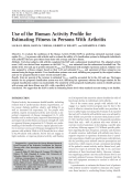 Use of the Human Activity Profile for estimating fitness in persons with arthritis.