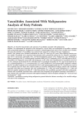 Vasculitides associated with malignanciesAnalysis of sixty patients.