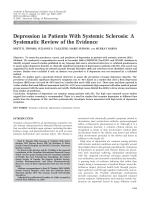 Depression in patients with systemic sclerosisA systematic review of the evidence.