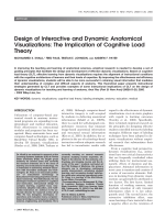 Design of interactive and dynamic anatomical visualizationsThe implication of cognitive load theory.