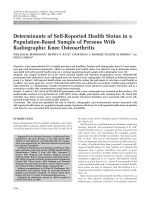 Determinants of self-reported health status in a population-based sample of persons with radiographic knee osteoarthritis.