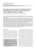 Development and testing of a decision board to help clinicians present treatment options to lupus nephritis patients in Brazil.