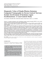 Diagnostic value of single-photonemission computed tomography in severe central nervous system involvement of systemic lupus erythematosusA case-control study.
