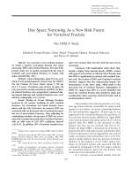 Disc space narrowing as a new risk factor for vertebral fractureThe OFELY study.