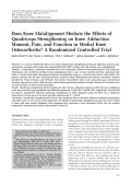 Does knee malalignment mediate the effects of quadriceps strengthening on knee adduction moment pain and function in medial knee osteoarthritis A randomized controlled trial.