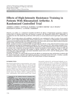 Effects of high-intensity resistance training in patients with rheumatoid arthritisA randomized controlled trial.