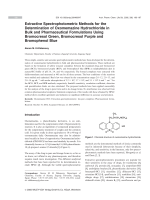 Extractive Spectrophotometric Methods for the Determination of Oxomemazine Hydrochloride in Bulk and Pharmaceutical Formulations Using Bromocresol Green Bromocresol Purple and Bromophenol Blue.