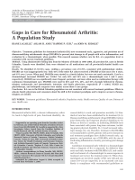 Gaps in care for rheumatoid arthritisA population study.