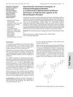 Geometrically Constrained Analogues of N-Benzylindolylglyoxylylamides[1 2 4]Triazino[4 3-a]benzimidazol-410H-one Derivatives as Potential New Ligands at the Benzodiazepine Receptor.