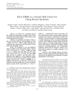 HLADRB4 as a genetic risk factor for Churg-Strauss syndrome.