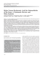 Hylan versus hyaluronic acid for osteoarthritis of the kneeA systematic review and meta-analysis.