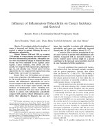 Influence of inflammatory polyarthritis on cancer incidence and survivalResults from a community-based prospective study.