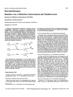 KurzmitteilungenReaktion von ╨Ю┬▒-Methylen-╨Ю╤Ц-butyrolacton mit ThiolderivatenReaction of ╨Ю┬▒-Methylen-╨Ю╤Ц-butyrolactone with Thiols.
