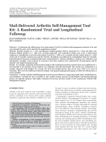 Mail-delivered arthritis self-management tool kitA randomized trial and longitudinal followup.