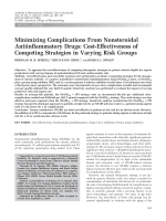 Minimizing complications from nonsteroidal antiinflammatory drugsCost-effectiveness of competing strategies in varying risk groups.