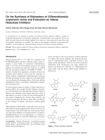 On the Synthesis of Bioisosters of O-Benzothiazolyloxybenzoic Acids and Evaluation as Aldose Reductase Inhibitors.