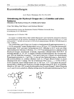 Orientierung der Hydroxyl-Gruppe des ╨▓тВм -Cubebins und seines Epimeren Orientation of the Hydroxyl Group of ╨▓тВм -Cubebin and its Epimer.