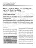 Pain as a mediator of sleep problems in arthritis and other chronic conditions.