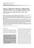 Pattern of infliximab utilization in rheumatoid arthritis patients at an academic medical center.