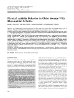 Physical activity behavior in older women with rheumatoid arthritis.