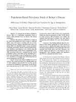 Population-based prevalence study of Beh┬зet's diseaseDifferences by ethnic origin and low variation by age at immigration.