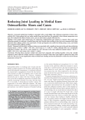 Reducing joint loading in medial knee osteoarthritisShoes and canes.