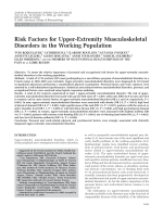 Risk factors for upper-extremity musculoskeletal disorders in the working population.