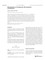 Stereoisomers of Compounds with Symmetric Constitutions.