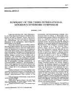 Summary of the third international sjgren's syndrome symposium.