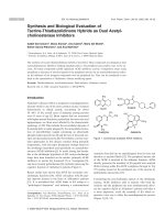 Synthesis and Biological Evaluation of Tacrine-Thiadiazolidinone Hybrids as Dual Acetylcholinesterase Inhibitors.