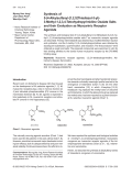 Synthesis of 5-4-Alkylsulfanyl-[1 2 5]Thiadiazol-3-yl-3-Methyl-1 2 3 4-Tetrahydropyrimidine Oxalate Salts and their Evaluation as Muscarinic Receptor Agonists.