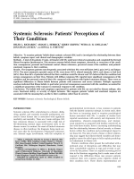 Systemic sclerosisPatients' perceptions of their condition.