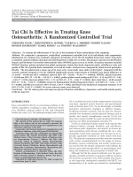 Tai Chi is effective in treating knee osteoarthritisA randomized controlled trial.
