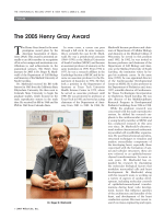 The 2005 Henry Gray Award.
