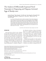 The analysis of differentially expressed novel transcripts in diapausing and diapause-activated eggs of Bombyx mori.