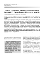 The cost effectiveness of rofecoxib and celecoxib in patients with osteoarthritis or rheumatoid arthritis.