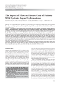 The impact of flare on disease costs of patients with systemic lupus erythematosus.