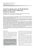 Total knee replacement and health-related quality of lifeFactors influencing long-term outcomes.