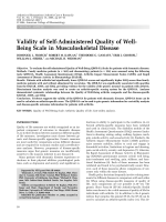 Validity of self-administered quality of well-being scale in musculoskeletal disease.